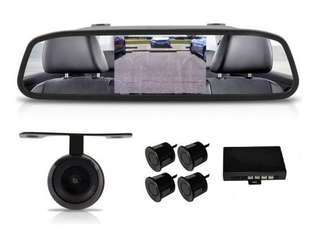 огледало за кола с камера и парктроник АТ 112M