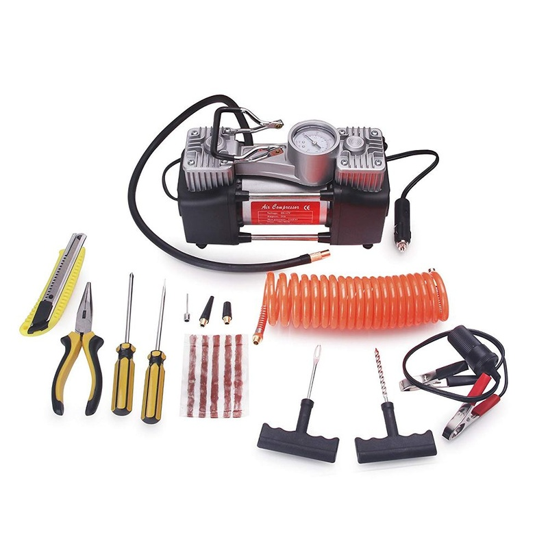 Компресор PNI CPA700 комплект за двойно бутало и ремонт на гуми