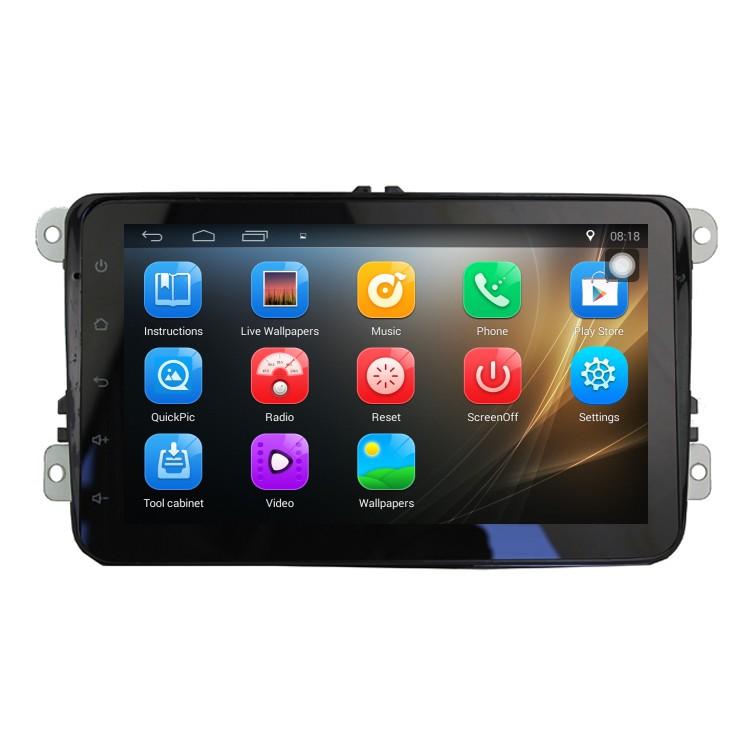 Двоен дин с навигация за VW SEAT SKODA VW8108, Android 8.1, GPS, WiFi, 8 инча