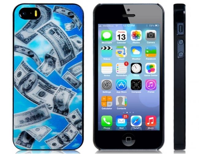 Пластмасов калъф за iPhone 5/5s 3D долари