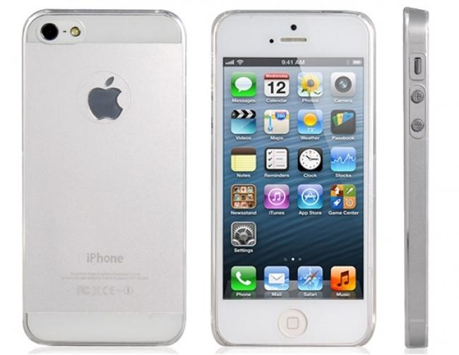 Пластмасов ултратънък прозрачен матов калъф за iPhone 5/5s