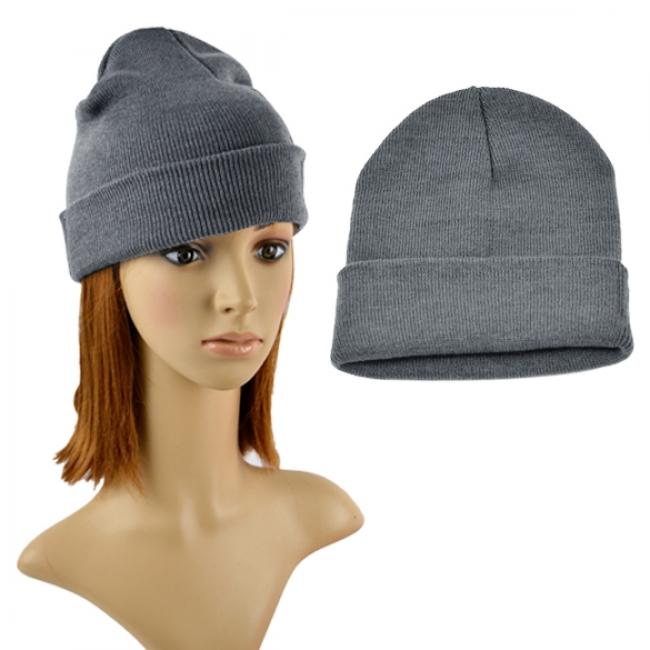 5e5cba98378 Дамска зимна шапка Сива - Евтини стоки от Promo-Stoki.com - Таблети,