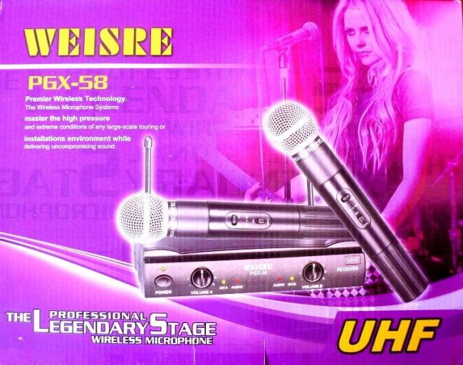 ПРОМОЦИЯ! Професионални двойка микрофони WEISRE PGX-58
