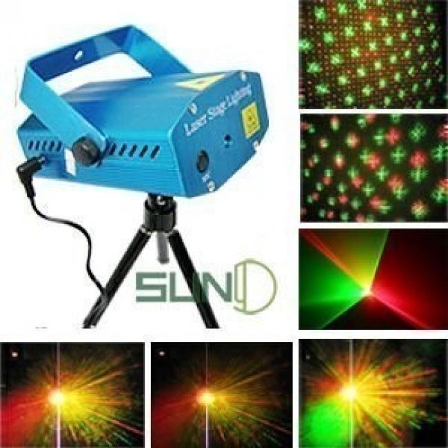 Дискотечен лазер - червен и зелен