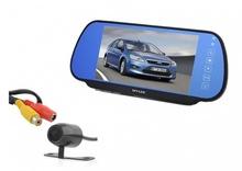 Комплект огледало с вграден 7 инчов монитор с камера за задно виждане